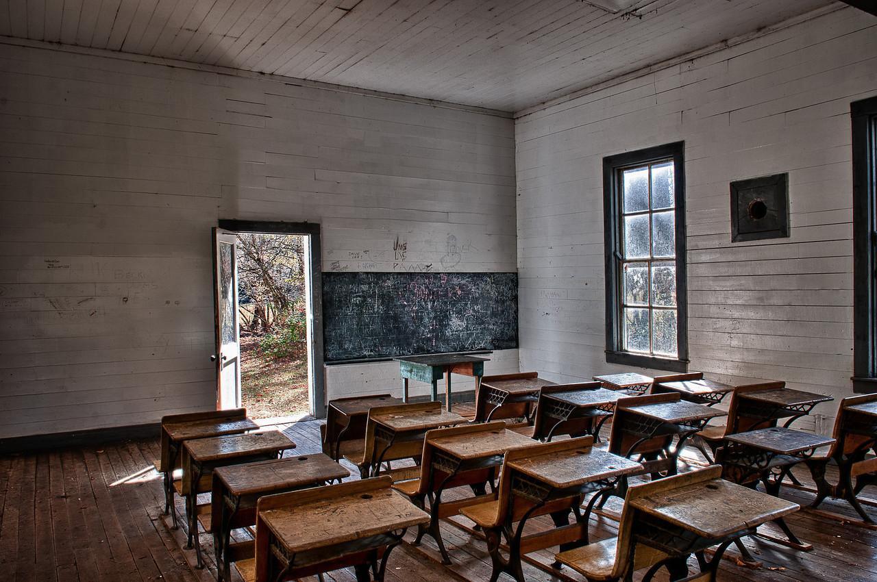 Smoky Mountains, Cataloochee Area; school room