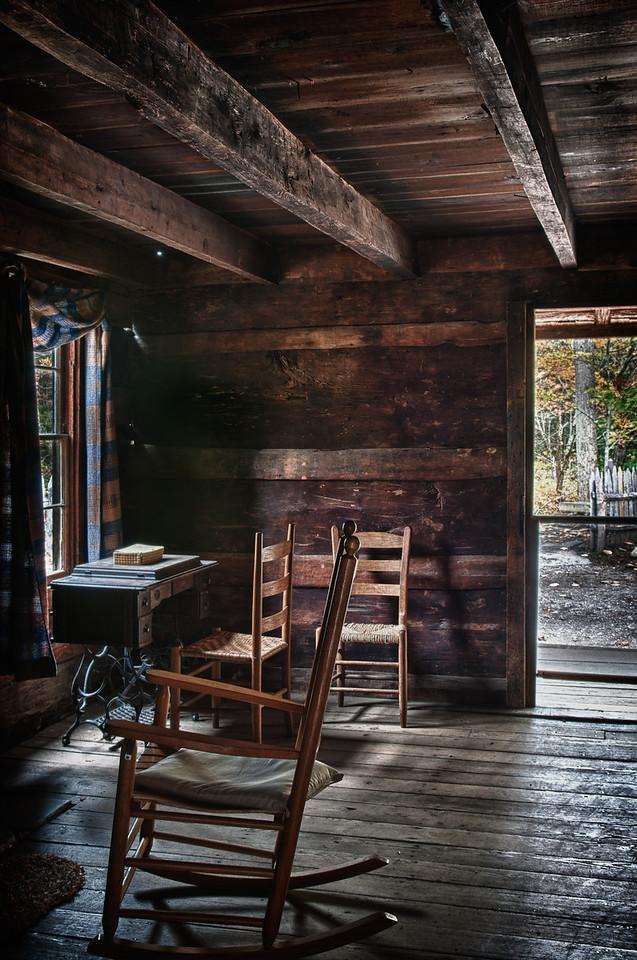 Smoky Mountains, Cataloochee Area; old farmhouse