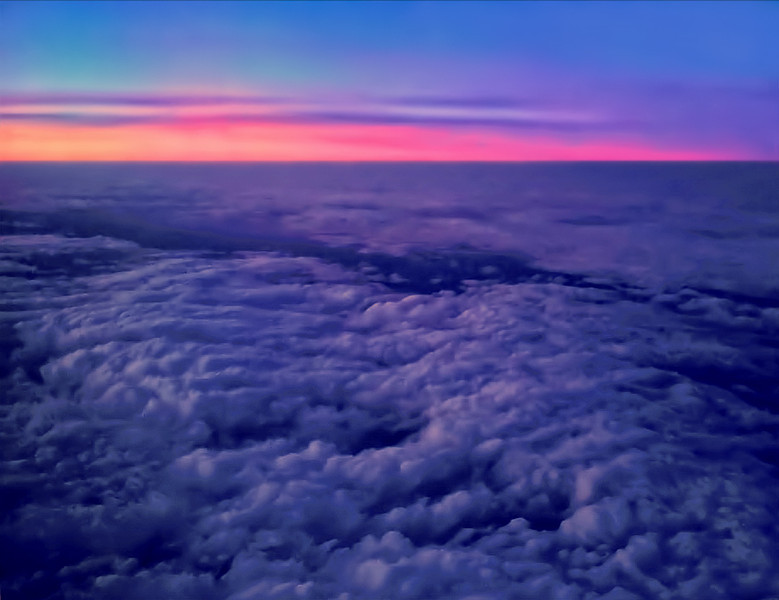 Dawn at 35,000 ft.