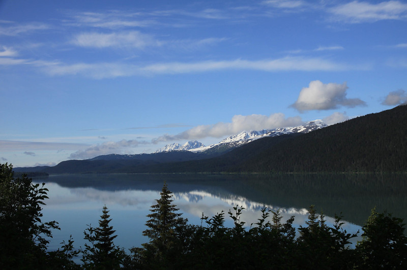 Lake along Seward Highway Alaska