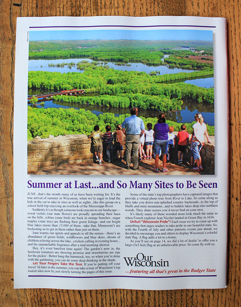 2014 June & July Back Cover for Our Wisconsin Magazine
