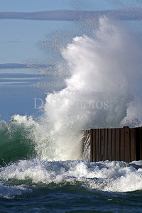 Big Wave Crash, Grand Marais City Pier