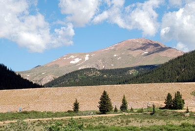 Mason Reservoir Dam and Pikes Peak