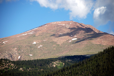 Pikes Peak from Near Mason Reservoir Dam