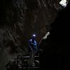 Tom J. inside Bear Gulch cave.