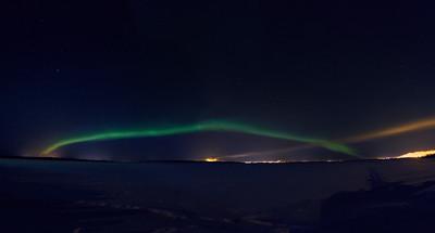 The Arc. Aurora Borealis over Kemi