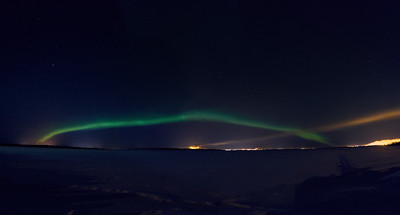 The Arc. Aurora Borealis over Kemi