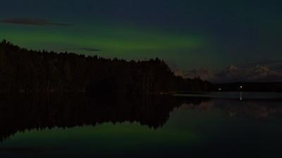 Aurora Borealis over Linnavuori