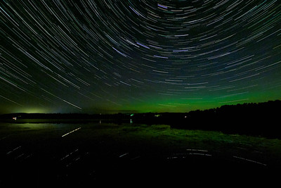 Startrails and Northern Lights