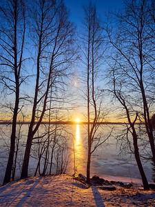 Pyhajarvi morning light