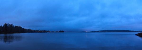 Blue Morning Pyhajarvi panorama