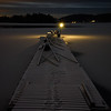 The Winter Dock by night