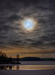 Supermoon with clouds