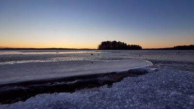 Pyhajarvi blue ice