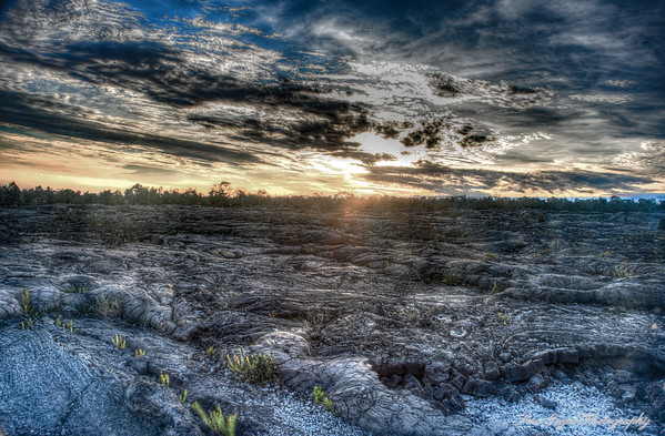 Lava Field Sunset