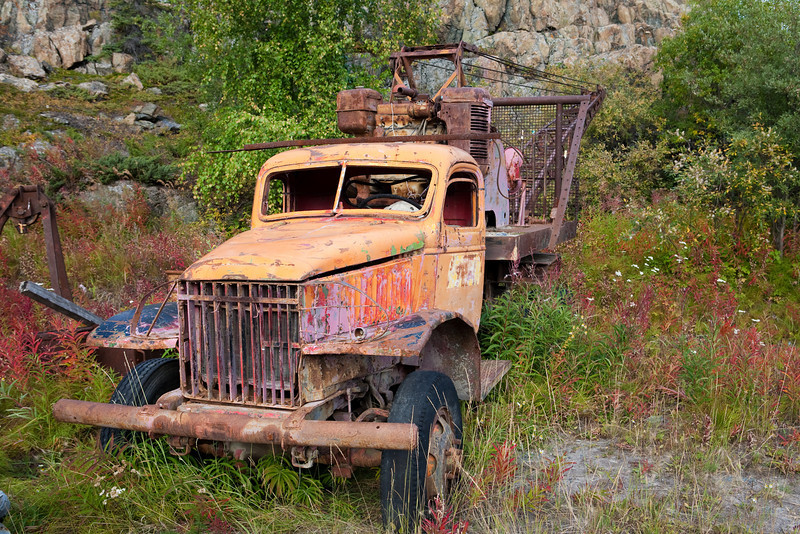 An old mining relic in Yellowknife