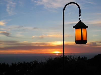 sunset at Nepenthe