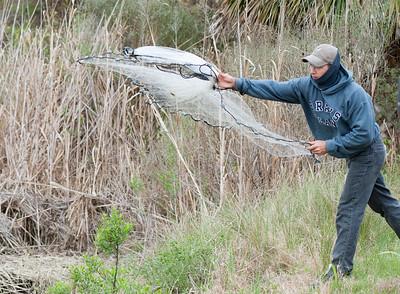 Robert is an expert Net Cast fisherman.