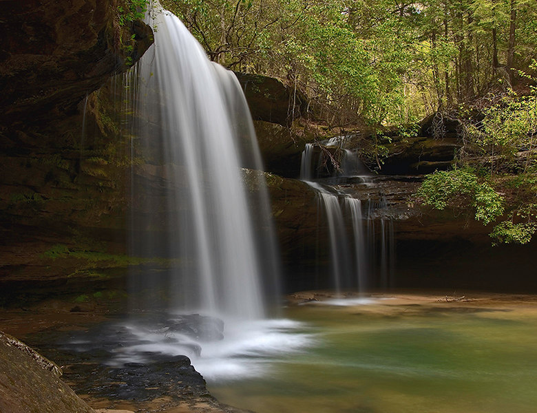 """Upper Caney Creek Falls""<br /> Bankhead National Forest, AL"
