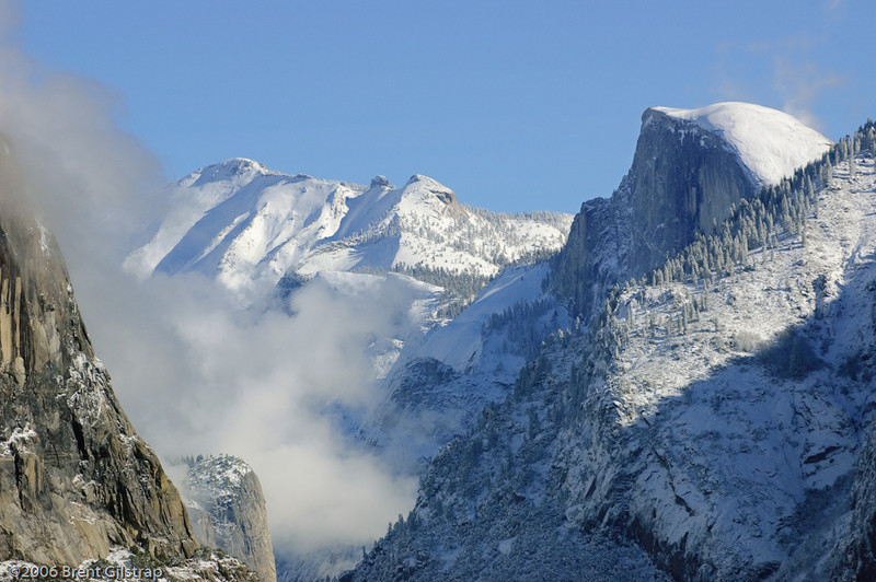 Snowy Cloud's Rest and Half Dome<br /> <br /> 15 January 2006<br /> Yosemite Valley