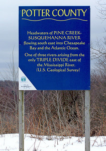 Headwaters of Pine Creek and Susquehanna River Sign The Susquehanna provides 45 percent of the fresh water entering the Chesapeake Bay, and supplies drinking water to 6.2 million people.