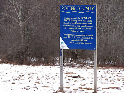 Headwaters of the Genesee River sign
