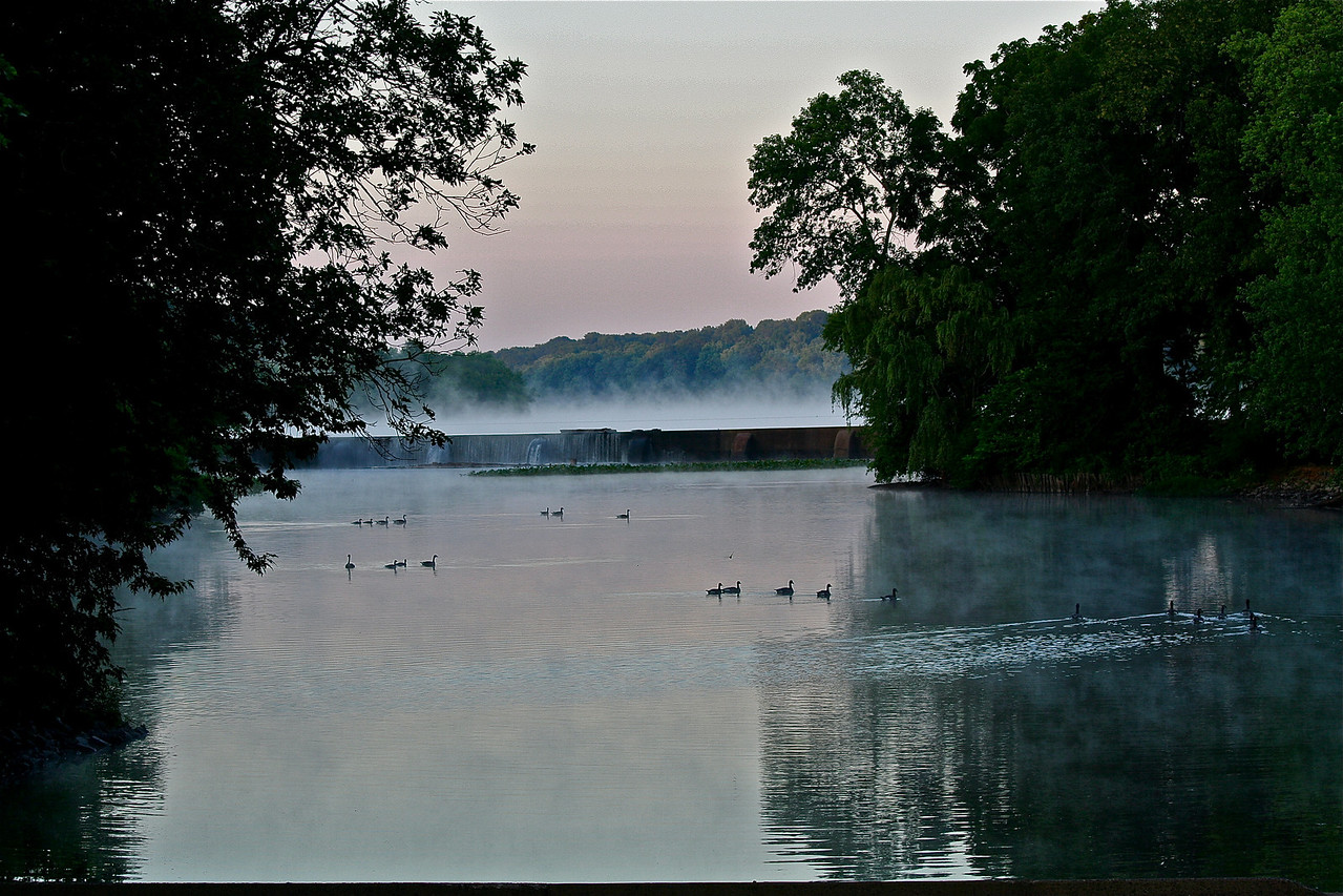 Carnegie Lake dam