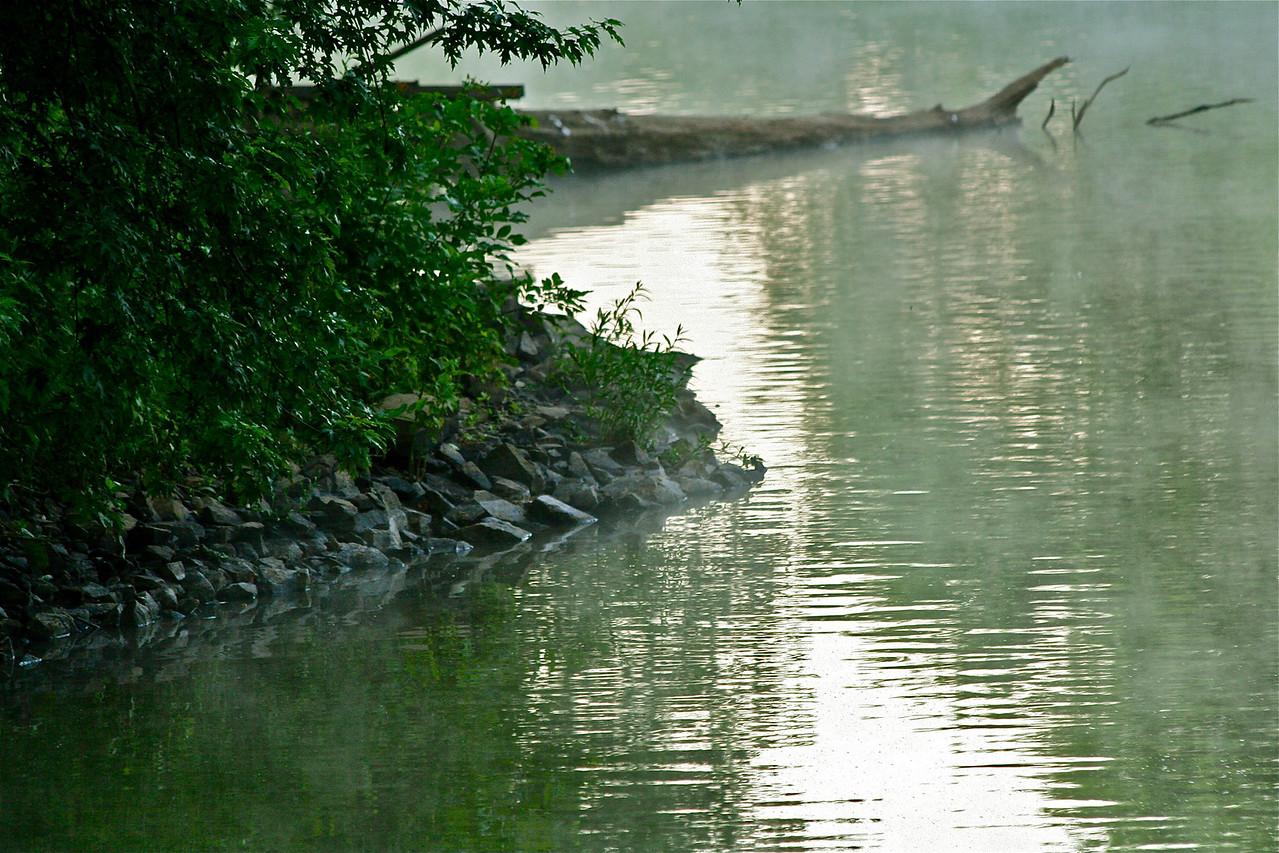 Carnegie Lake near the dam