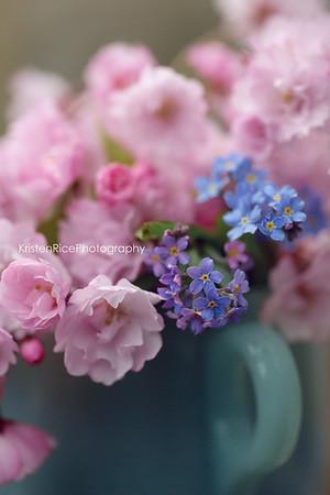 forget me nots cherry blossoms jadeite KRisten rice