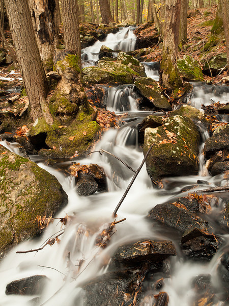 This is another brook that flows in and meets Pulpit Brook at Pulpit Rock conservation area in Bedford.  I've seen it many times, but never shot it well.  I can hardly believe there's this much water in November!