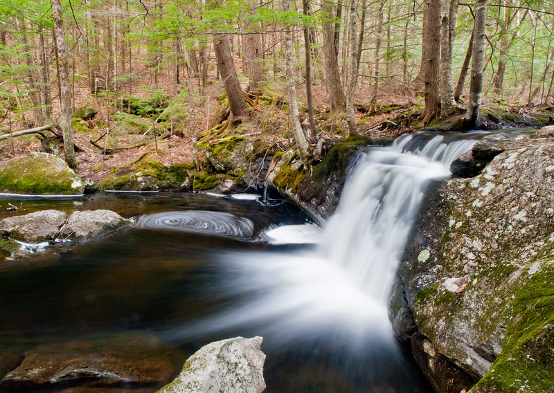 small waterfall at Pulpit Rock Conservation area