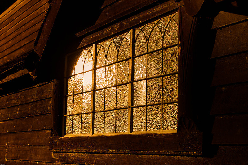 Window of the Røldal stave church