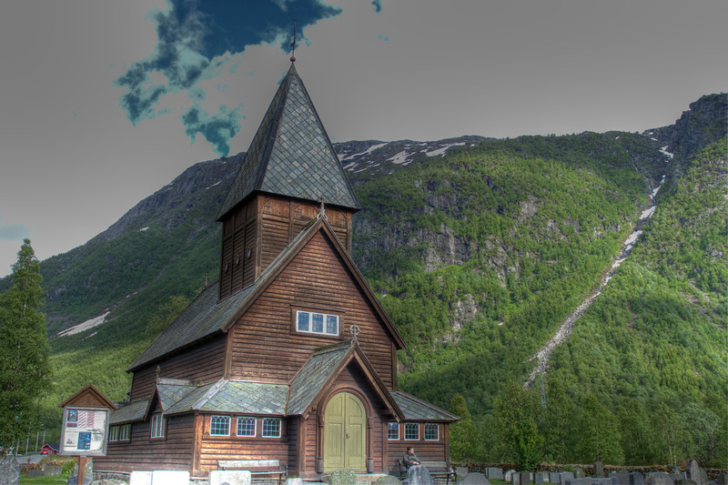 Røldal stave church - hdr