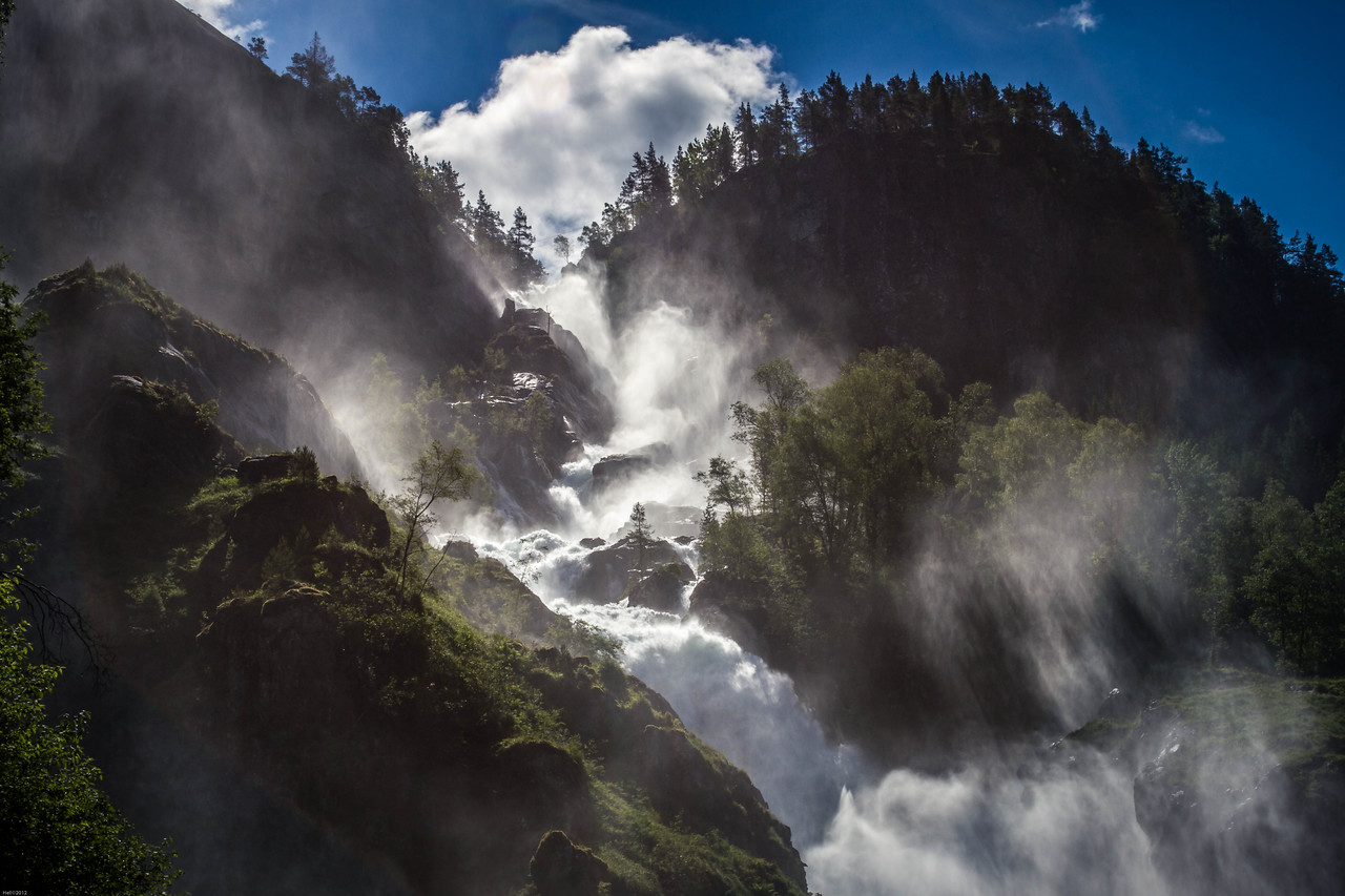 Låtefossen - one of Norway's most visited natural attractions.