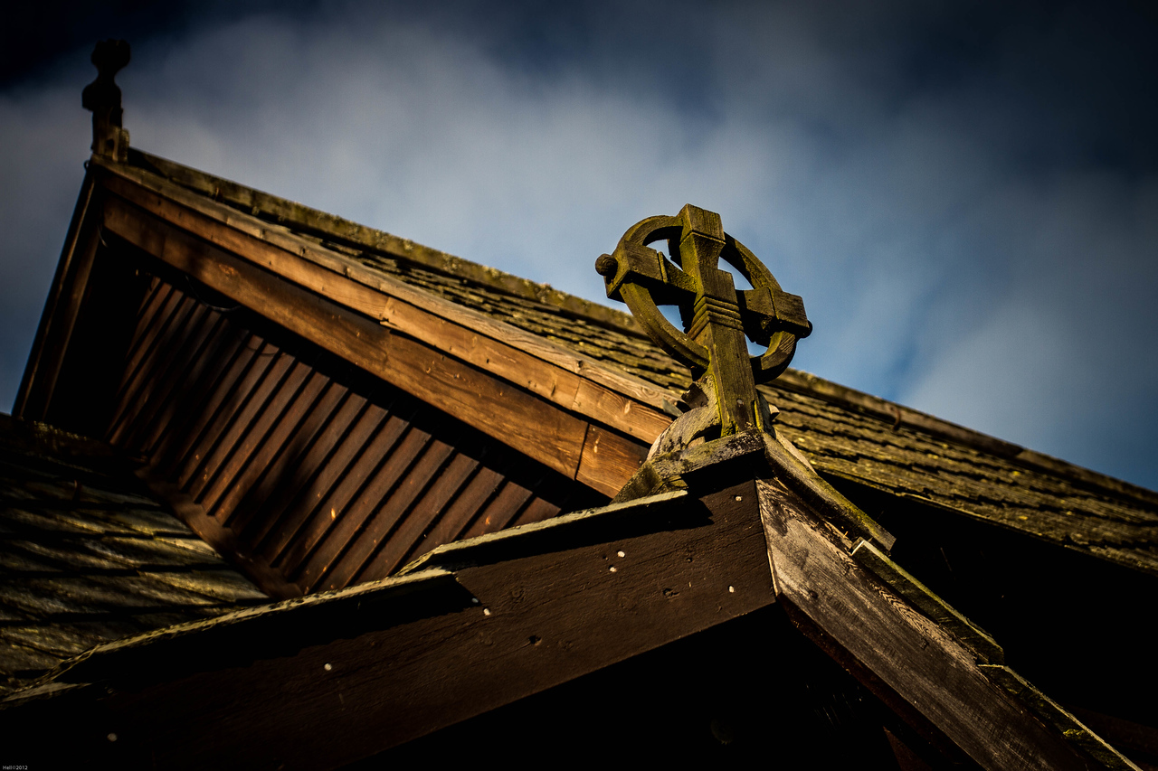 Detail of the roof of Røldal stave church
