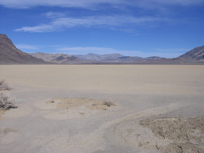 At the southern edge of Racetrack Playa, looking north.