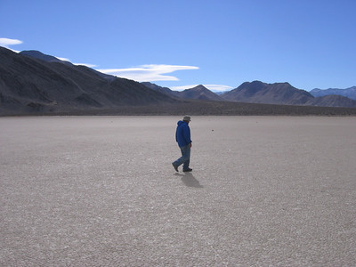 Out on the playa, with lennies developing in the distance.