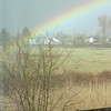March 18, 2011.  Not the best photo but I was trying to show that the rainbow appeared to be coming to earth in the wetlands behind my house.