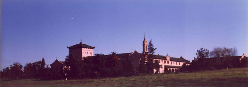 Monastery in Los Altos, CA from Hwy 280