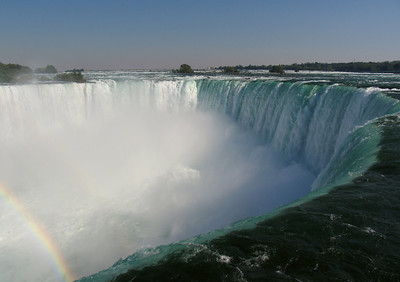 The so-called horseshoe falls are on the Canadian side