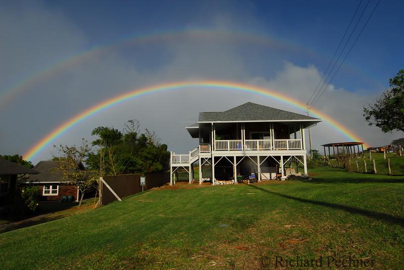 Uakoko cottage double rainbow Haiku Maui News