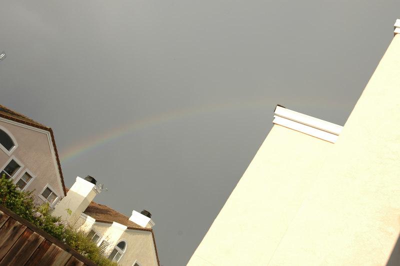 Rainbow on the roof