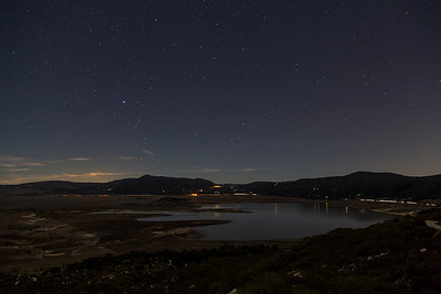30 second exposure of Lake Henshaw and night sky.  I would have done a much longer one but the lack of a remote shutter release put the kaboosh on that idea.