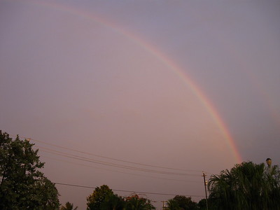Last rainbow pic ... for now! It's not every day I see a full rainbow stretch alllll the away across the sky! ;D