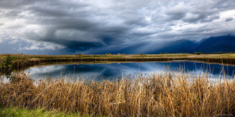 Approaching storm over Ronan Montana.