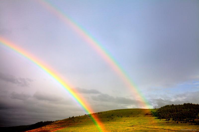 Double Rainbow near St Ignatius, Montana