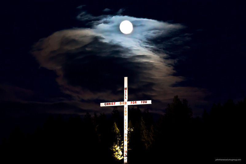 Cross near Bigfork, MT above the Flathead River