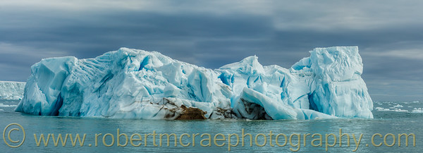A large iceberg that calved from Austfonna ice shelf.