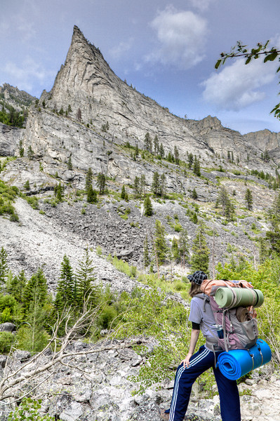 Backpacking in Blodgett Canyon near Hamilton