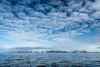 Sailing north of Svalbard.